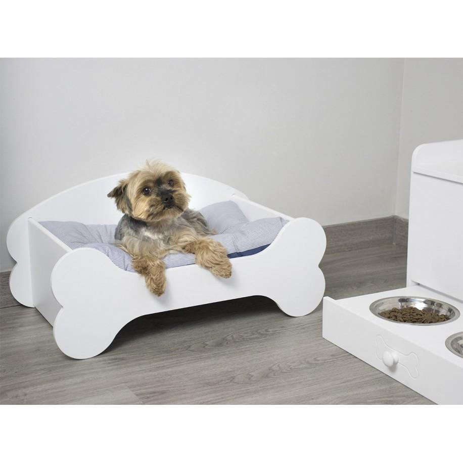 Baúl de madera para perros